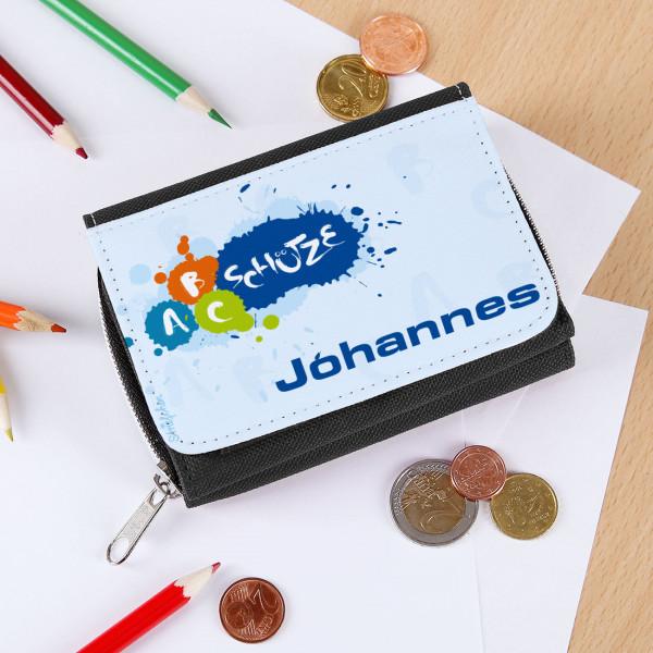 Kinderportemonnaie mit ABC-Schütze Motiv in schwarz