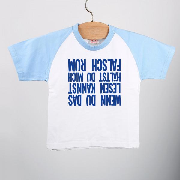 Lustiges Baby- Shirt für Jungen - Wenn du das lesen kannst, hältst du mich falsch rum