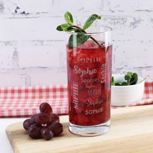 Trinkglas graviert mit Ihrem Namen