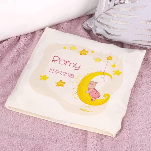 Kirschkernkissen mit niedlichen, rosafarbenen Teddybär-Motiv