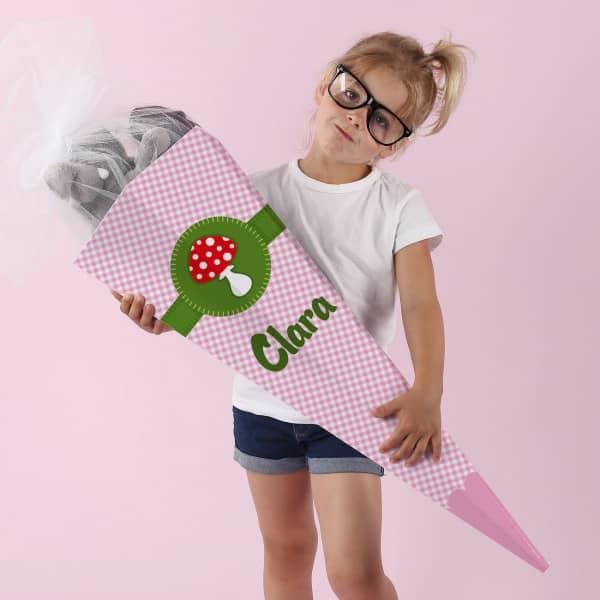 Glückspilz - Zuckertüte mit Name, 80 cm