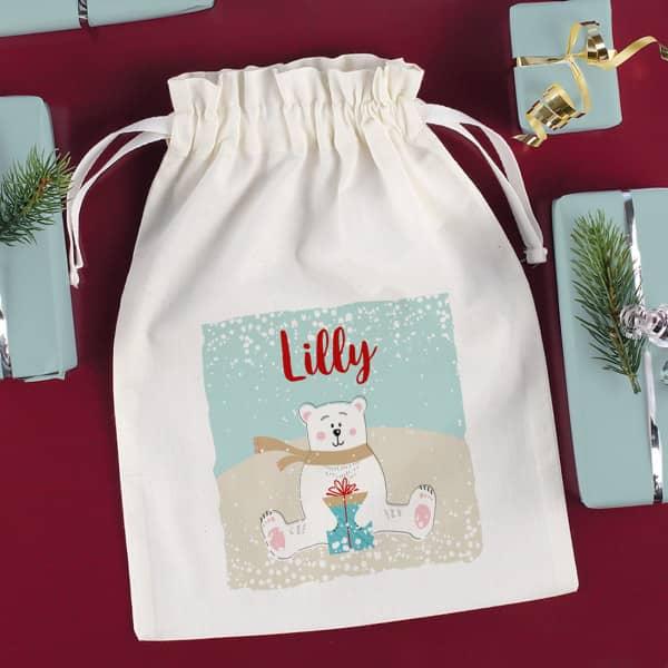Eisbär - Geschenksack mit Name