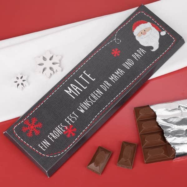 XL Weihnachtschokolade mit Weihnachtsmann