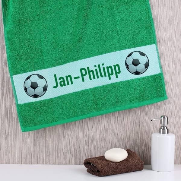 Fußballer - Handtuch mit Wunschnamen