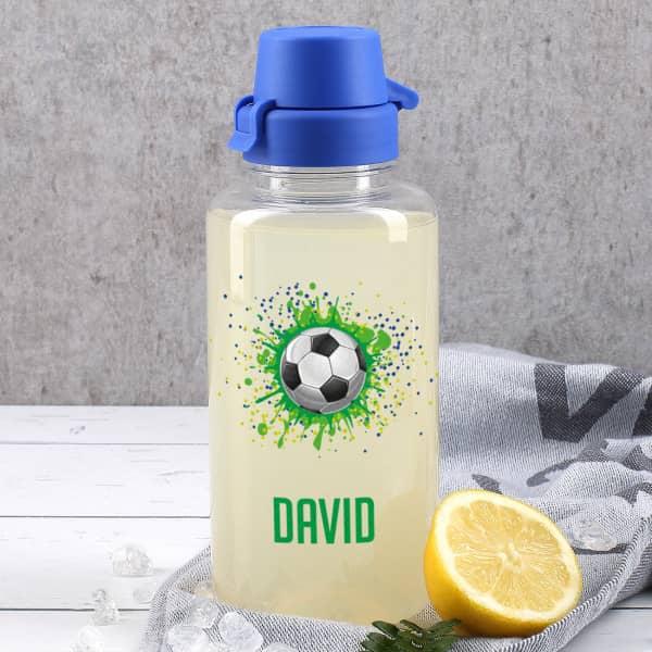 Fußball Trinkflasche mit Name, 0,7 L