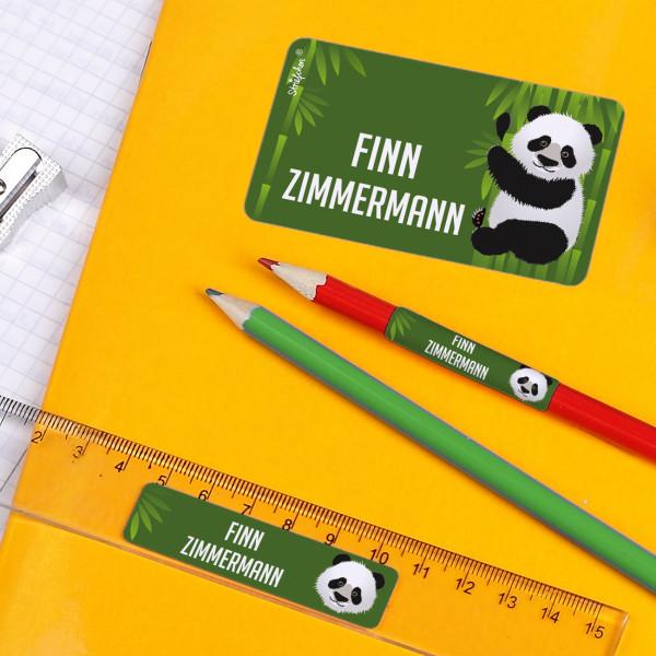 Schulaufkleber Panda
