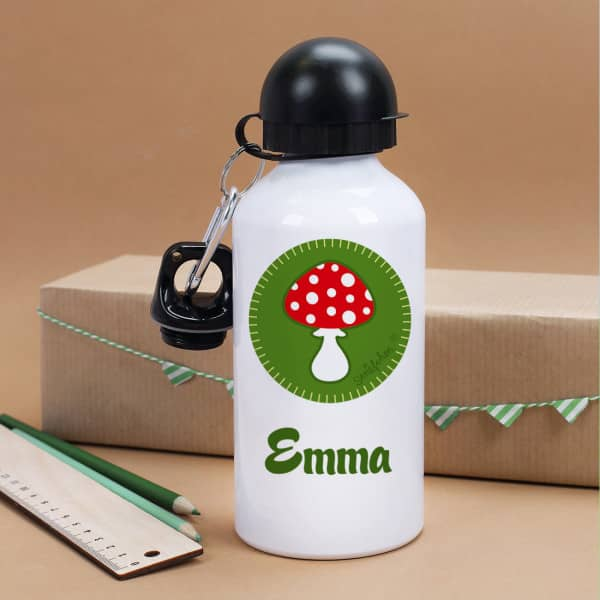 Trinkflasche mit ihrem Namen