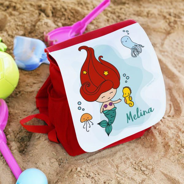 Kindergartenrucksack mit kleiner Meerjungfrau