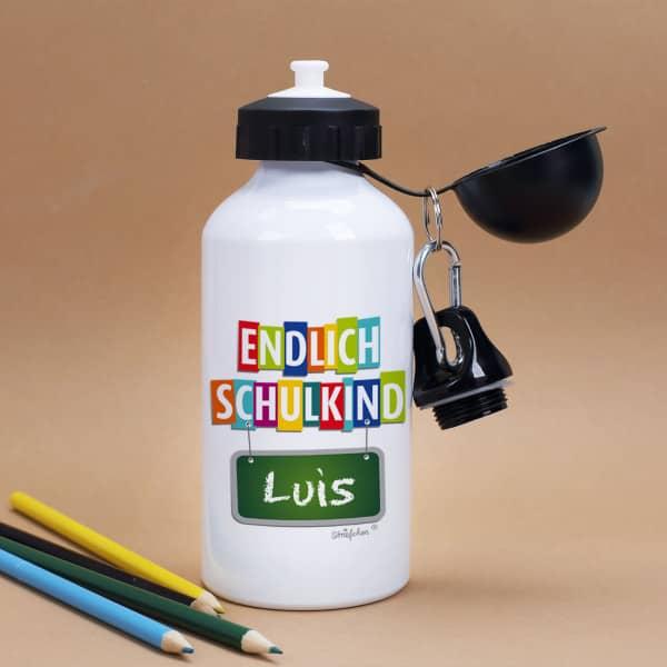 Trinkflasche Endlich Schulkind