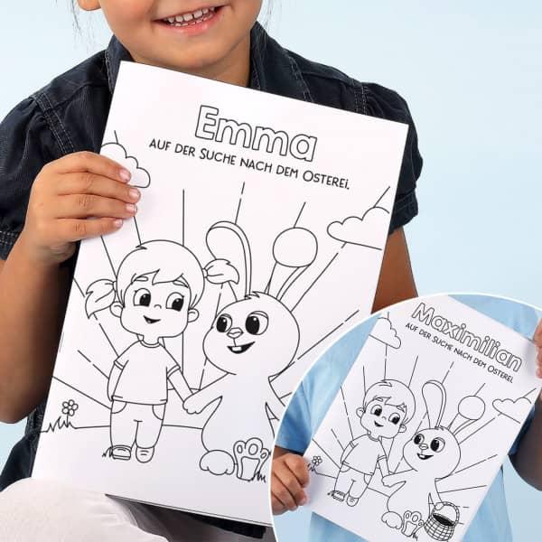Ostermalbuch für Kinder mit Wunschname