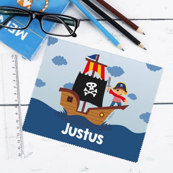 Brillenputztuch für kleine Piraten