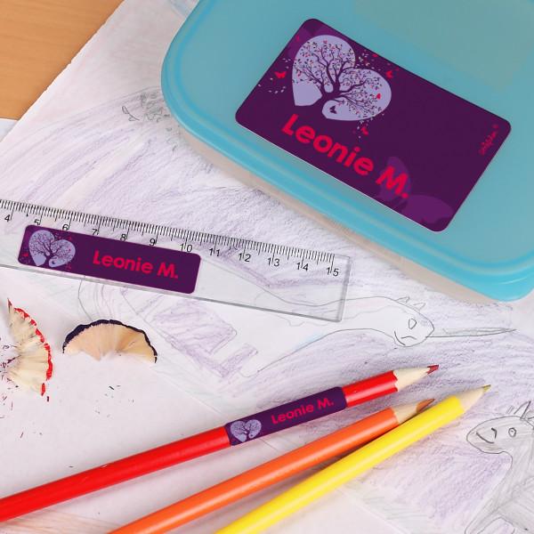 Schulaufkleber mit magischem Schmetterlings-Motiv