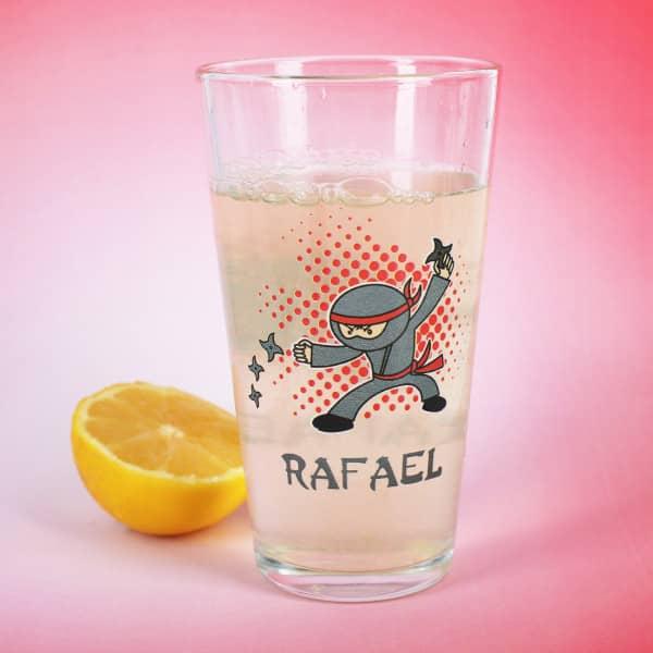 Trinkglas für kleine Ninjafans