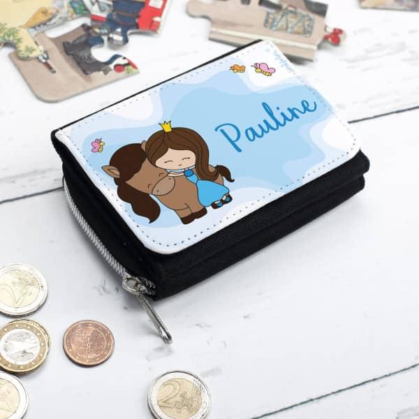 Kindergeldbörse mit Prinzessinnen-Motiv und Wunschname
