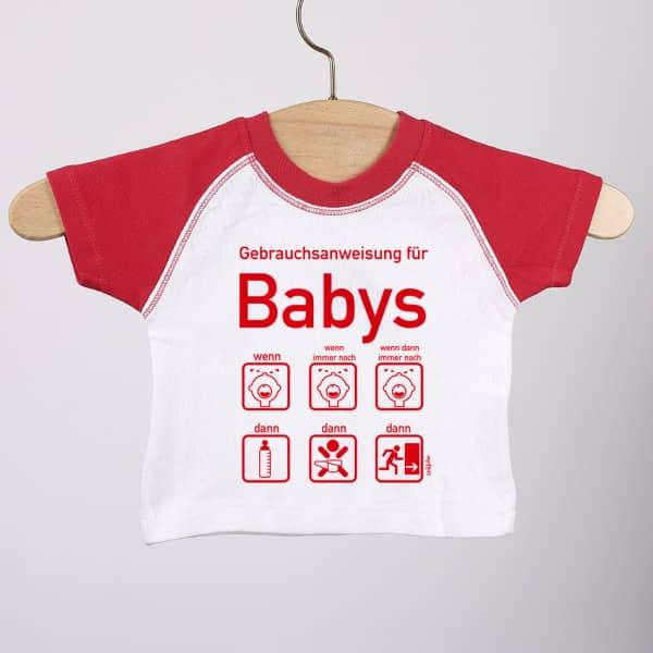 T-Shirt zur Geburt mit Gebrauchsanweisung für Baby-Mädchen