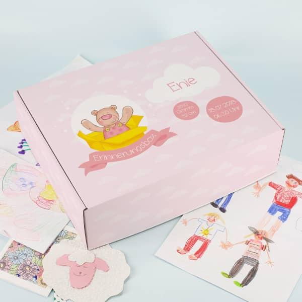 Erinnerungsbox für Mädchen mit Geburtsdaten
