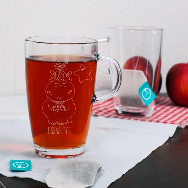 Teeglas mit Einhorn