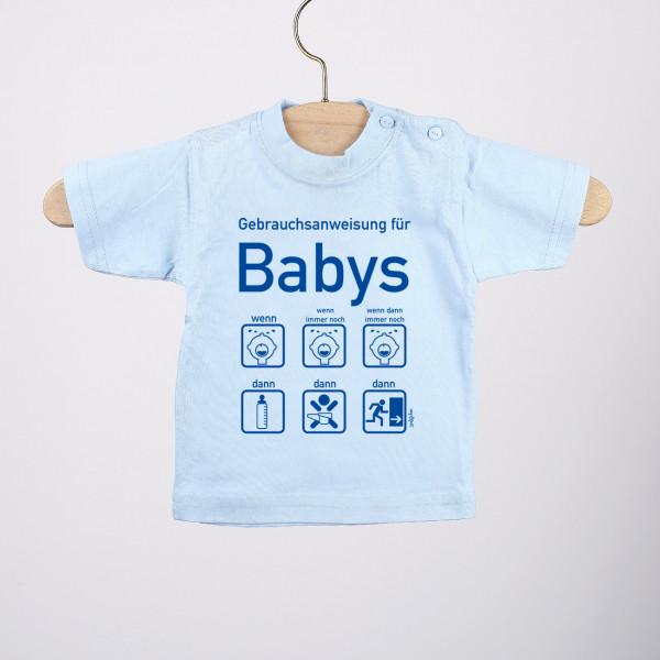 T-Shirt mit Gebrauchsanweisung für Baby-Jungen