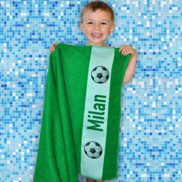 Dusch- und Badetuch für Fußballer