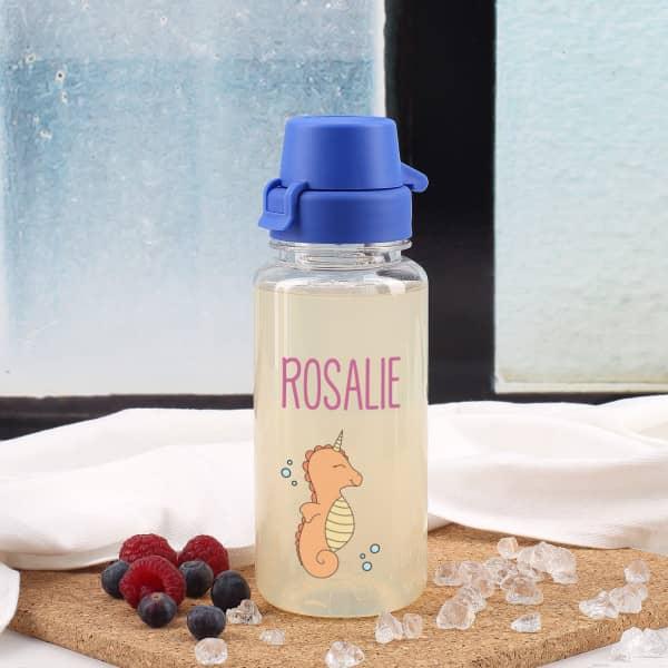 Seepferdchen-Trinkflasche mit deinem Namen