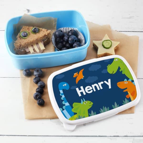 Dino Brotdose für Kinder mit Name nach Wunsch