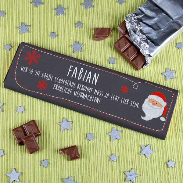 Schokolade Weihnachten Wunschtext Weihnachtsmann