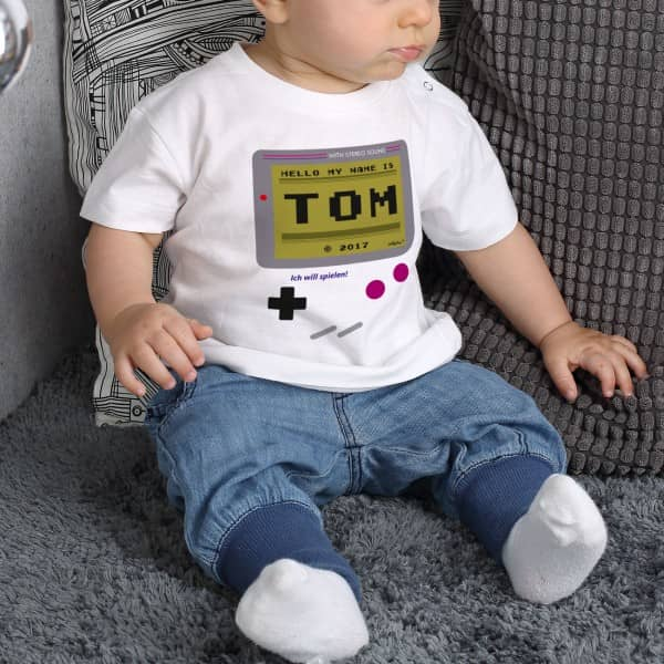 Lustiges Babyshirt Spielekonsole