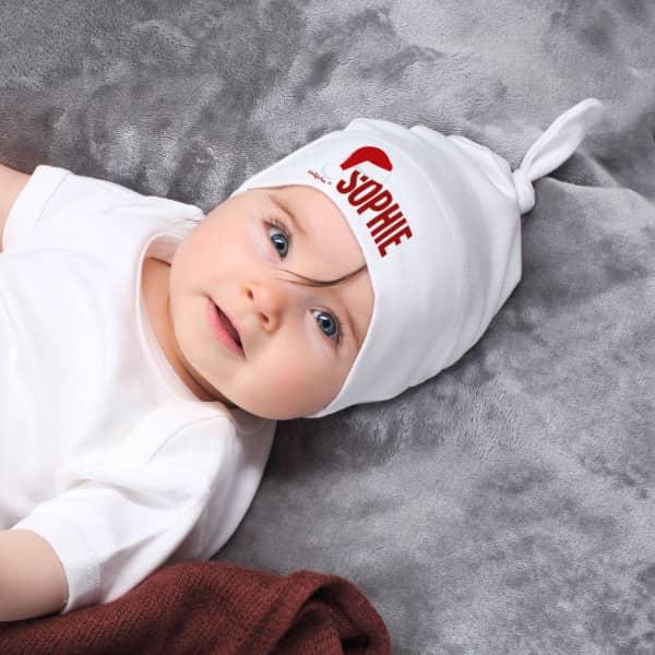Zipfelmütze für Babys zu Weihnachten