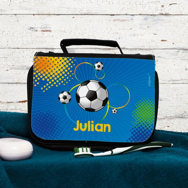 Persönliche Kulturtasche für Fußballer