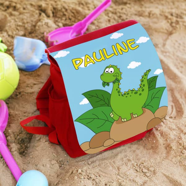 Kinderrucksack mit Dino und Wunschname