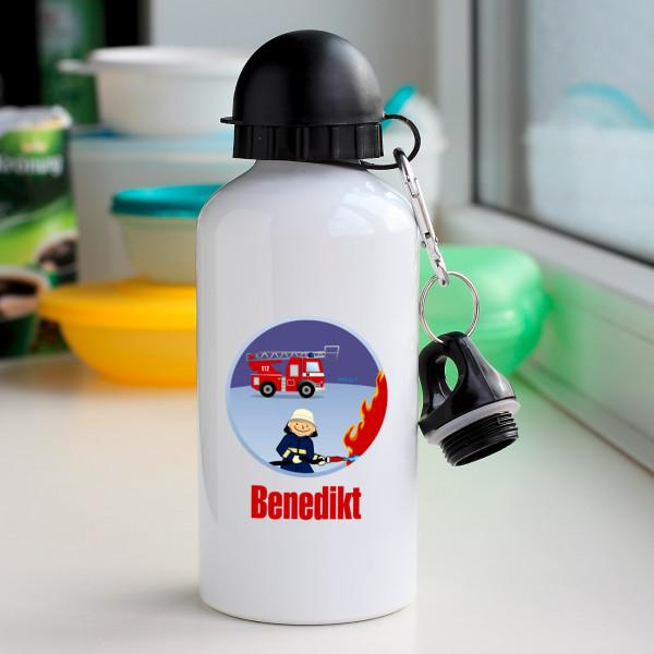 Trinkflasche für kleine Feuerwehrmänner mit Namen