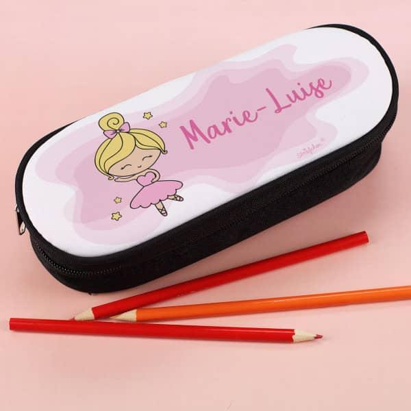 Stiftebox mit Ballerina und Ihrem Namen