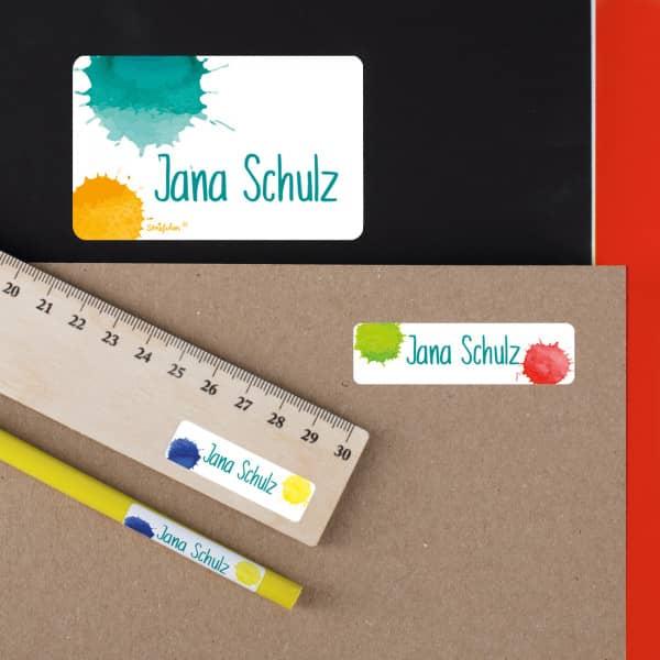 Namensaufkleber für Botdosen, Stifte und vieles mehr