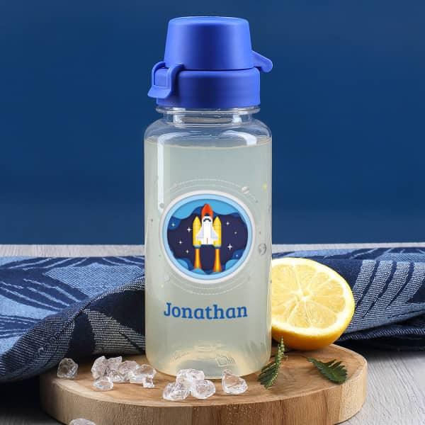 Raumschiff - Trinkflasche mit Name 0,4 L