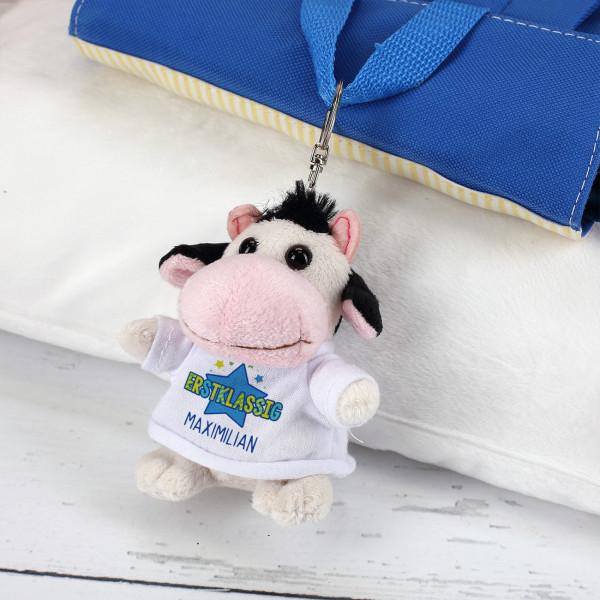 Erstklassig - Kuh-Schlüsselanhänger mit deinem Namen