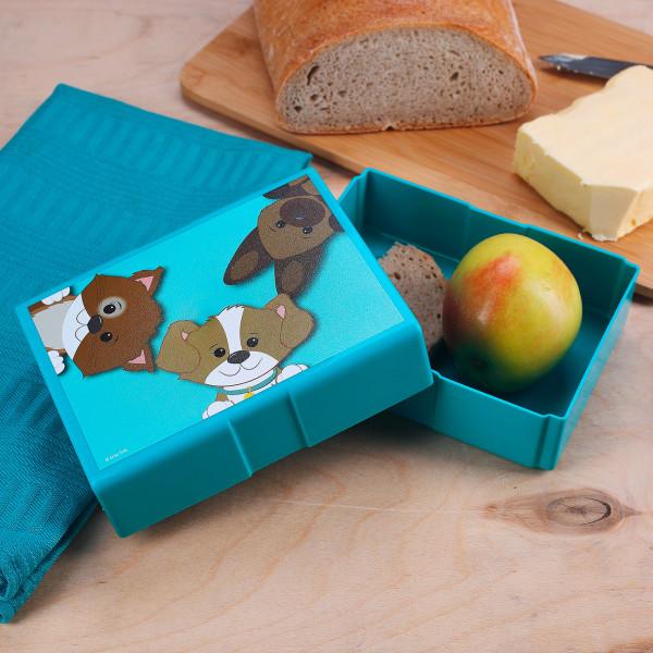 Brotdose mit süßen Tierkindern bedruckt