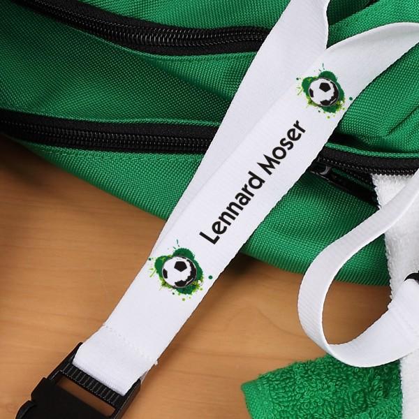 Fußballer - Schlüsselband mit Name