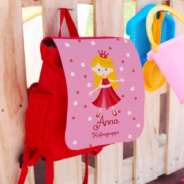 Kindergartenrucksack mit Prinzessinnenmotiv