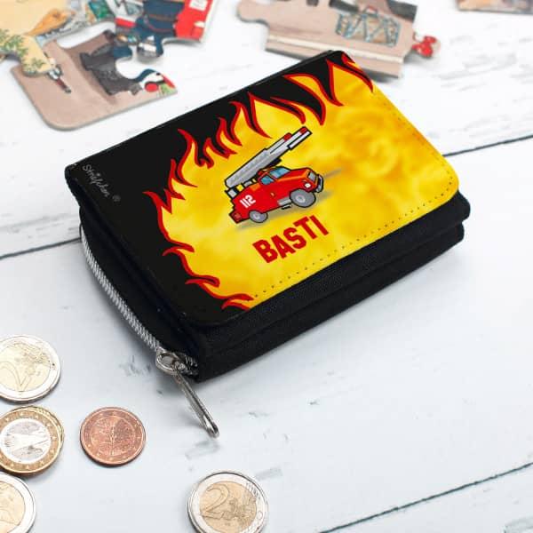 Geldbörse Feuerwehrauto