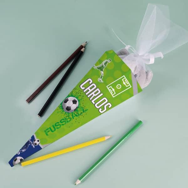 Geschwistertüte für die kleinen Fußballer