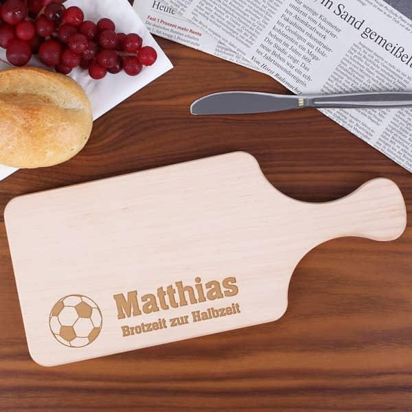 Frühstücksbrettchen für Fußballer