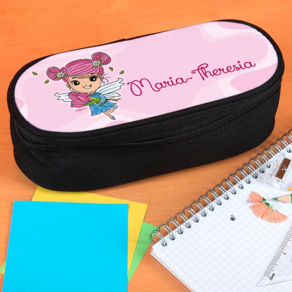 Personalisierte Stiftebox mit Tulpenfee Motiv und mit Name nach Wunsch personalisiert