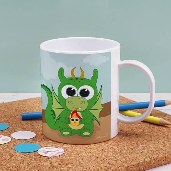 Tasse mit niedlichen Drachen bedruckt