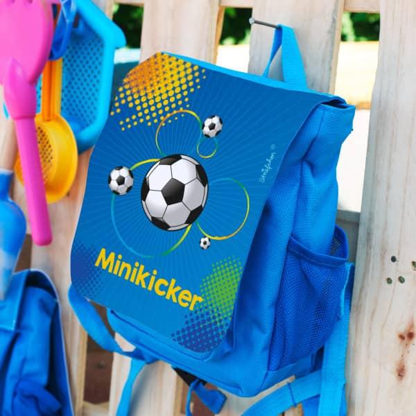 Kindergartenrucksack Fußball Name