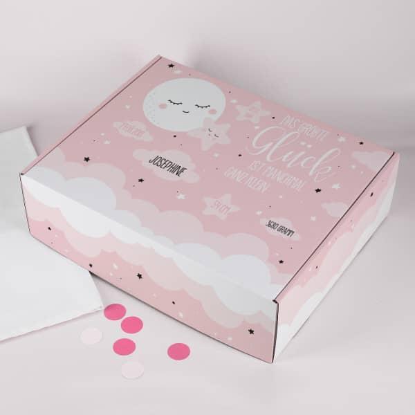 Geschenkbox zur Geburt für Mädchen