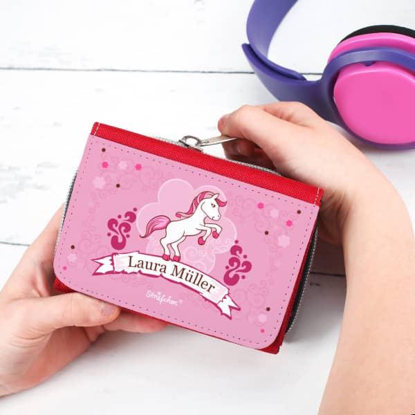 Geldbörse mit rosa Pony-Motiv für Mädchen