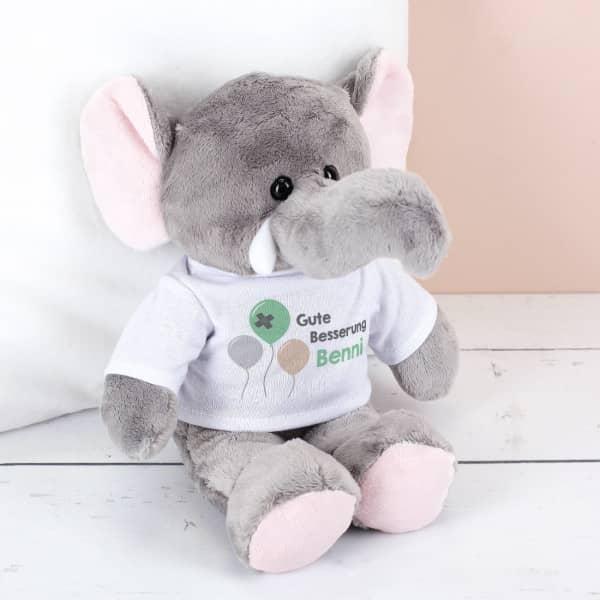 Stofftier Elefant Gute Besserung