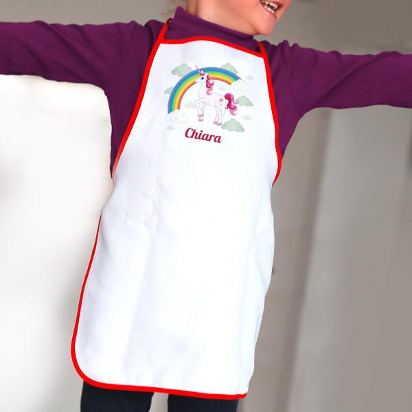 Einhorn - Kinderschürze mit Name