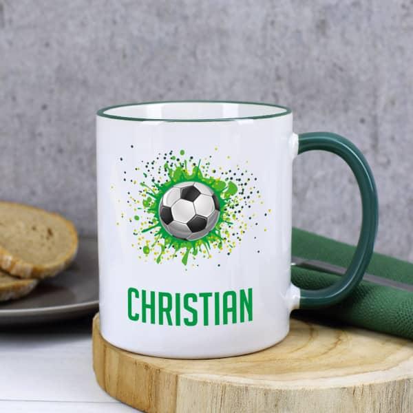 Fußball - Tasse mit Name