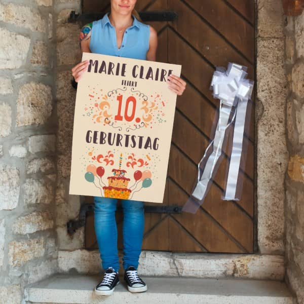 Banner für die Kindergeburtstagsdeko mit Name und Alter